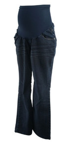 Dark Blue Wall Flower Maternity Boot Cut Maternity Jeans (Like New - Size Large)