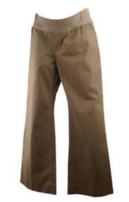 Light Brown GAP Maternity Perfect Trouser Stretch Career Boot Cut Pants (Like New - Size 10 A)