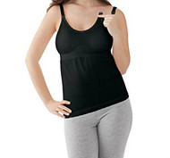 Black Madela Maternity  Double Insert Nursing Camisole (Like New - Size Large)