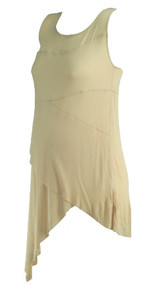 *New* Peach Orange A Pea in the Pod Maternity Casual Layered Maternity Tank Top (Size Small)