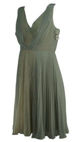 *New* Ash Gray Max and Cleo Maternity Sleeveless Lace Special Occasion Maternity Dress for A Pea in the Pod Maternity Collection (Size 8)