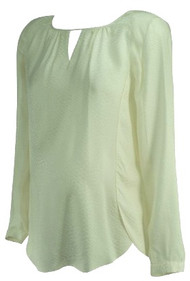 Cream A Pea in the Pod Maternity Snake Skin Print 100% Silk Maternity Blouse (Like New - Size Small)