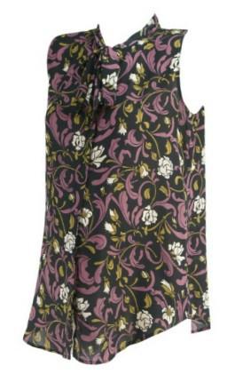 849b9977f6005 ... Purple Ann Taylor Loft Maternity Sleeveless Adjustable Neck Tie Career Maternity  Blouse (Like New - Size Small/Medium). Image 1