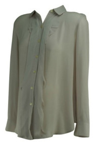 Light Dusty Pink Ann Taylor Loft Maternity Button Down Career Maternity Blouse (Like New - Size Small)