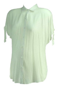 *New* White A Pea in the Pod Maternity Adjustable Sleeve Career Blouse (Size Medium)