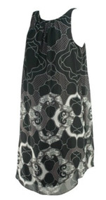 *New* Black Paisley Print A Pea in the Pod Maternity Sleeveless Career Maternity Dress (Size Large)
