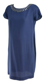 *New* Navy A Pea in the Pod Maternity Embellished Special Occasion Maternity Dress (Size Small)