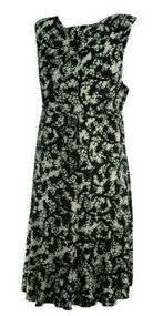 Black and White Leaf Print A Pea in the Pod Maternity Career Sleeveless Maternity Dress (Like New - Size Large)