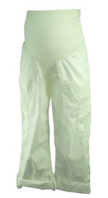 *New* White Motherhood Maternity Adjustable Cargo Maternity Pants (Size Medium)