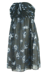 *New* Black Donna Morgan for A Pea in the Pod Maternity Strapless Cocktail Dress (Size Large)