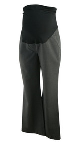 Dark Gray Ann Taylor Loft Maternity Full Panel Boot Cut Career Maternity Pants (Like New - Size 6)