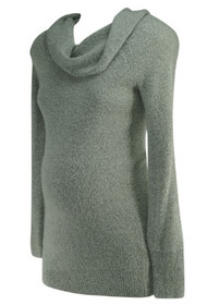 Gray Motherhood Maternity Cowl Neck Maternity Sweater (Gently Used - Size X-Small)
