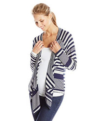 Navy Everly Grey Maternity Long Sleeve Grahm Striped Maternity Cardigan (Like New - Size Small/Medium)