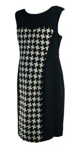 *New* Black and White Suzi Chin for A Pea in the Pod Maternity Puzzle Piece Print Maternity Dress (Size Large)