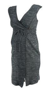 *New* Gray A Pea in the Pod Maternity Sleeveless Belted Maternity Dress (Size Small)