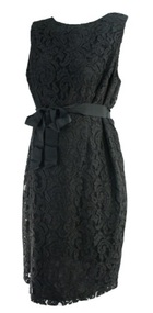 *New* Black A Pea in the Pod Maternity Lace Sleeveless Maternity Dress (Size Large)