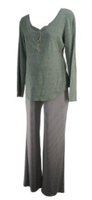 *New* Gray A Pea in the Pod Maternity Two Piece Sleepwear Nursing Maternity Set (Size Large)