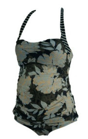Floral A Pea in the Pod Maternity Striped 2 Pc Tankini Set (Gently Used - Size X-Small)