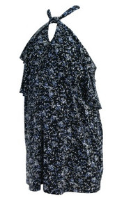 Black Motherhood Maternity Off the Shoulder Floral Print Maternity Top (Gently Used - Size Large)