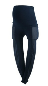 *New* Navy Blue David Lerner Maternity Double Inserts Maternity Leggings (Size X-Small)