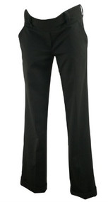 Black Isabella Oliver Maternity Cuffed Straight Leg Maternity Pants (Like New - Size 1)