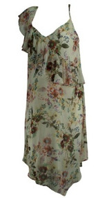 Cream Jessica Simpson Maternity Floral Print Flowy Maternity Dress (Like New - Size Medium)