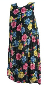 Black Asos Maternity Floral Print Casual Maternity Dress (Gently Used - Size 8)