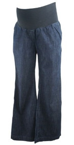 Dark Wash Denim Ann Taylor Loft Maternity Boot Cut Maternity Jeans (Gently Used - Size 4M)