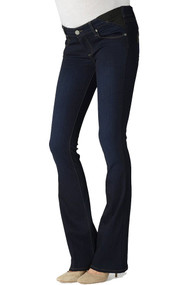 Dark Wash Paige Maternity Skyline Boot Cut Maternity Jeans (Gently Used - Size Medium)