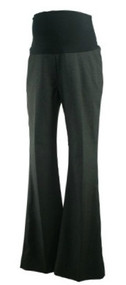 Charcoal Bellyssima Maternity Boot Cut Career Maternity Pants with Faux Back Pockets (Like New - Size P Small)