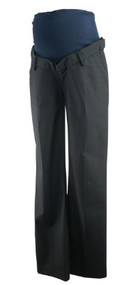 Dark Gray Noppies Maternity Chevron Print Full Panel Career Maternity Pants (Like New - Size Small)