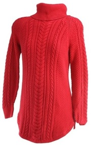 Postbox Red GAP Maternity Thick Cable Knit Turtle Neck Maternity Sweater (Gently Used - Size Small)