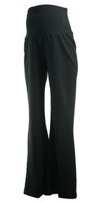 Black Due Date Inc. Maternity Full Panel Career Maternity Pants (Gently Used - Size P-Small)