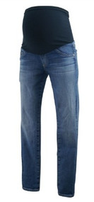 Medium Wash Adriano Goldschmied Maternity Full Panel Skinny Maternity Jeans (Gently Used - Size 28R)