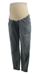 Gray A Pea in the Pod Maternity Full Panel Capri Cargo Maternity Pants (Gently Used - Size Medium)