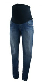 Medium Wash Adriano Goldschmied Maternity Full Panel Skinny Maternity Jeans(Gently Used - Size 28R)