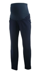 Navy Blue A Pea in the Pod Maternity Full Panel Thick Slim Fitted Pants (Like New - Size Medium)