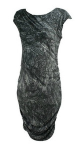 *New* Gray A Pea in the Pod Maternity Printed Casual Maternity Dress (Size Medium)