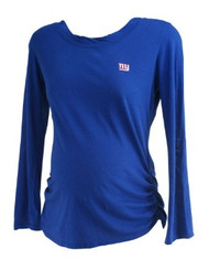 Blue Cutter & Buck Maternity New York Giants Embroidered Casual Long Sleeve Tee (Gently Used - Size Medium)