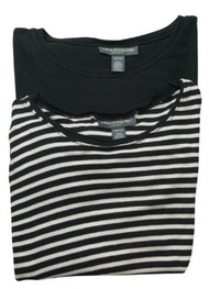 Lot of 2 Maternity Casual Ribbed Long Sleeve Tees by A Pea in the Pod Maternity (Gently Used - Size Small)