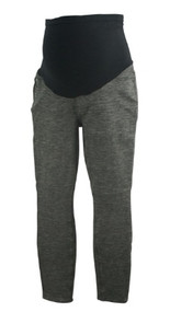 Marled Charcoal Full Panel 7 For All Mankind for A Pea in the Pod Maternity Collection Career Pants (Like New - Size 28)