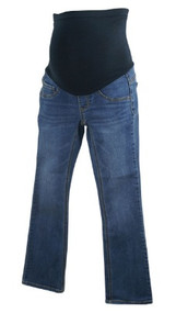 Deep Medium Wash Full Panel Casual Maternity Skinny Jeans (Gently Used - Size Petite X-Small)