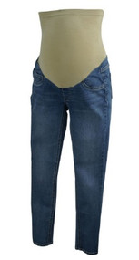 Medium Wash Jessica Simpson Maternity Full Panel Casual Maternity Skinny Jeans (Gently Used - Size Petite X-Small)