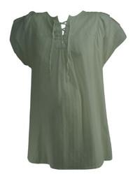 White GAP Maternity Short Sleeve Maternity Blouse (Gently Used - Size Large)
