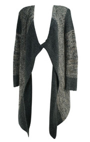 Gray Splendid Maternity Thick Knit Long Sleeve Striped Maternity Sweater (Like New - Size Large)