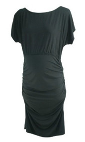 Black Isabella Oliver Maternity Short Sleeve Casual Maternity Dress (Like New - Size 4)