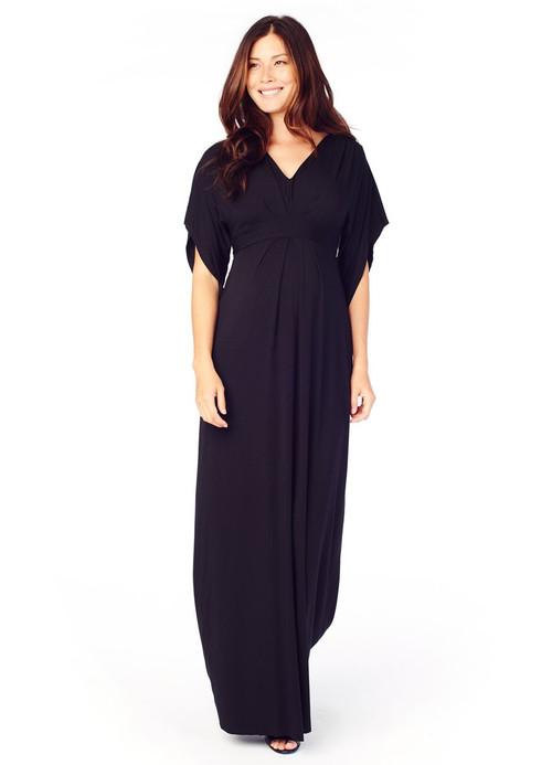 a10a6363ec08 Jet Black Ingrid & Isabel Maternity Kimono Maxi Dress (Like New - Size  Medium) - Motherhood Closet - Maternity Consignment