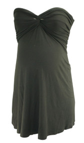 *New* Black Liz Lange Maternity Iva Front Knot Strapless Top