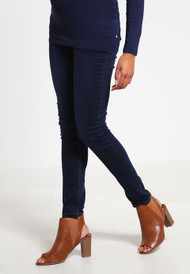 Dark Wash Tyme Maternity Full Panel Slim Fit Skinny Jeans (Like New - Size X- Small)