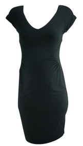 Black Tart Maternity Cap Sleeve V-Neck Casual Dress (Gently Used - Size Small)